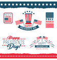 happy presidents day labels vector image