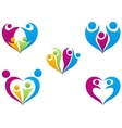 Love of family icon collection set vector image