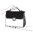 Sketches of bags fashion vector image
