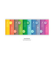 10 data infographics tab paper index and arrow vector image vector image