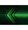 abstract green arrow light circuit power vector image vector image