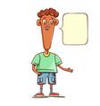 african american boy teen character vector image