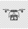 Airdrone Pharmacy Delivery Grainy Texture Icon vector image vector image
