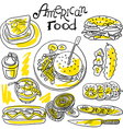 american food vector image