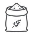 bag of wheat line icon farming and agriculture vector image