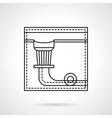 Billiard pocket flat line icon vector image vector image