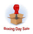 boxing day sale icon vector image