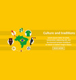brazil culture and traditions banner horizontal vector image