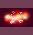 bright pink romance background for greeting card vector image vector image