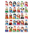 business people icons Christmas holiday vector image vector image