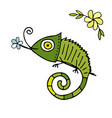 chameleon cartoon sketch for your design vector image