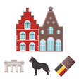 chocolate cathedral and other symbols of the vector image vector image