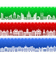 christmas banner city vector image vector image