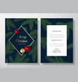 christmas frame abstract invitation card vector image vector image
