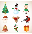 Christmas symbol set vector image vector image