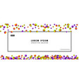 colorful carnaval confetti or candy balls vector image vector image