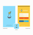 company water shower splash screen and login page vector image vector image