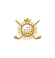 crown golf logo icon design vector image