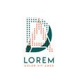 da modern logo design with orange and green color vector image vector image