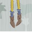 Dangling feet vector image vector image