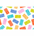 domino seamless pattern vector image