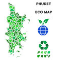 ecology green collage phuket map vector image vector image