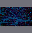 electronic board vector image vector image