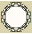 Ethnic round ornamental frame abstract background vector image