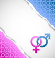 Female and male symbol document template vector image