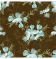 Floral crocus retro vintage background vector image vector image