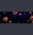 futuristic corona virus web banner template vector image vector image