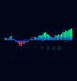 futuristic technology dashboard hud interface vector image vector image