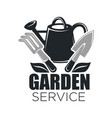 gardening service icon of garden tools vector image