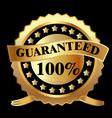 Gold label guaranteed vector image