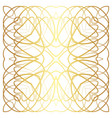 gold lines abstract floral pattern vector image vector image