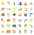 good career icons set cartoon style vector image vector image