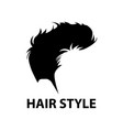 hair style logo vector image vector image