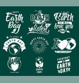 happy earth day element set vector image