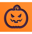 Happy Halloween paper pumpkin vector image