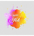 Happy holi card with blobs transparent background
