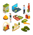 hotel services isometric vector image vector image