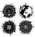 ink blots grunge elements vector image