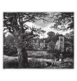 john hampdens house buckinghamshire vintage vector image vector image