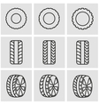 line tire icon set vector image