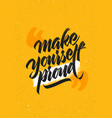 make yourself proud workout and fitness gym vector image vector image