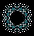 mandala aboriginal dot painting tribal desi vector image vector image