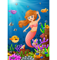 mermaid under the sea vector image