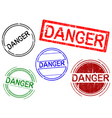 office stamps danger vector image vector image
