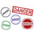 office stamps danger vector image vector image