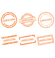 official stamps vector image vector image